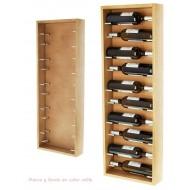 Botellero pared en madera bicolor para 10 botellas|EX9177