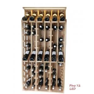 Expositor profesional de madera y con LED para 72 botellas|EX2268