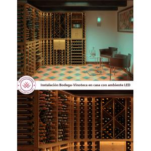 Instalación Bodega-Vinoteca|Ejemplo con Serie Godello y LED
