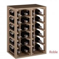 Botellero en madera de Roble para 24 botellas.
