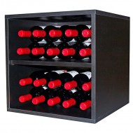 Cubo combinable negro con división para 20 botellas Serie Merlot|BL6126