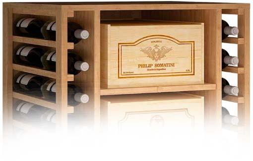 Estanterías y cajas de madera para guardar vino → ZonaWine.com
